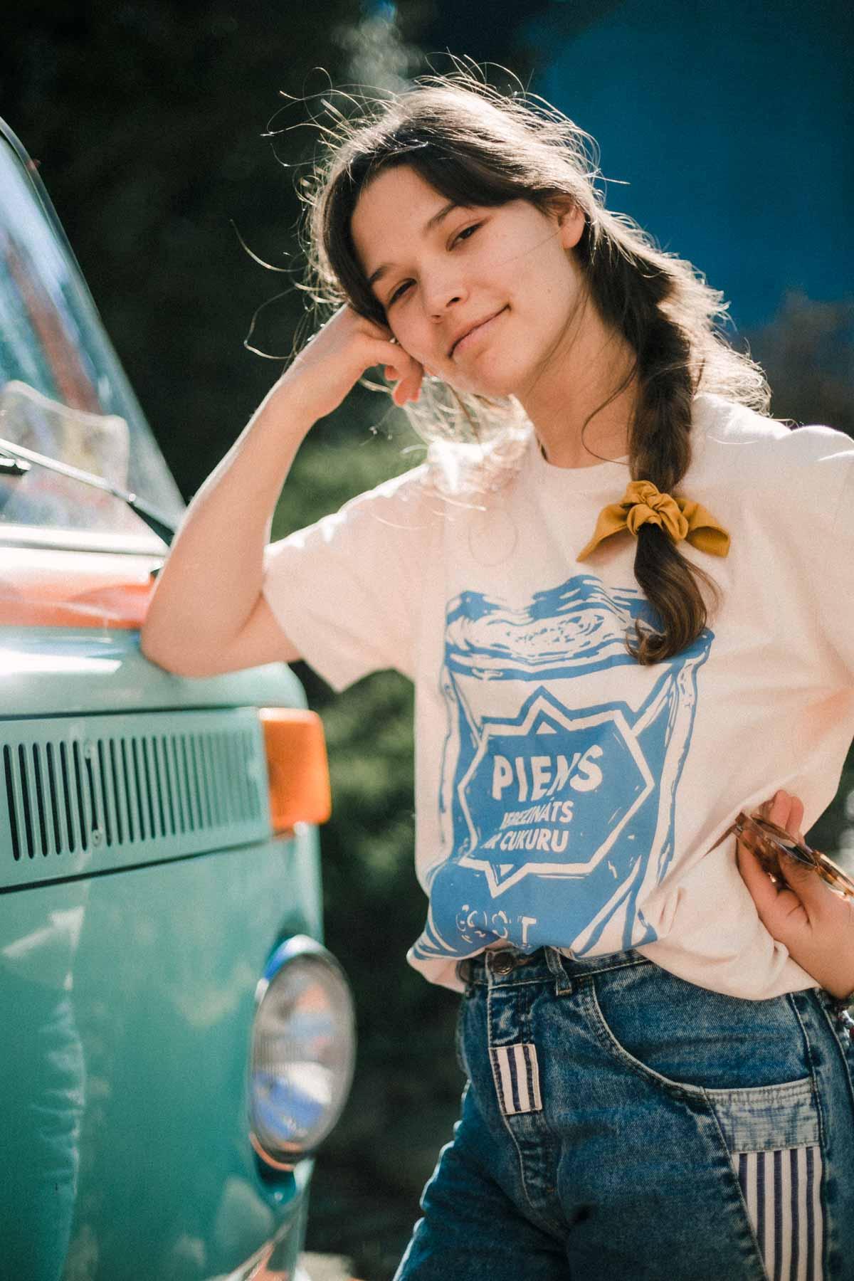 T-krekls Iebiezināts Piens