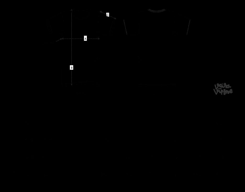 Vaira Vīksne T-kreklu izmēri
